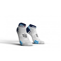 Compressport Skarpetki do biegania krótkie ProRacing Socks v3.0 White/Blue