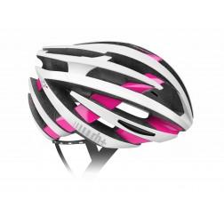 Zero RH+ kask rowerowy ZY Matt White Bridge Shiny Pink
