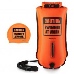Buddyswim bojka pływacka 28l CSW + czepek