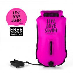 Buddyswim różowa bojka pływacka 20l LLS + czepek