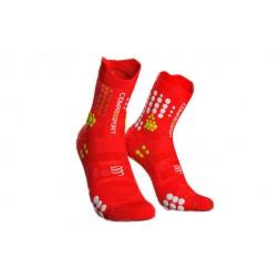Compressport Skarpetki do biegania Racing Socks v3.0 red white