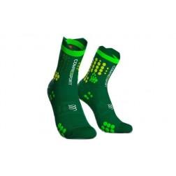 Compressport Skarpetki do biegania Racing Socks v3.0 green yellow