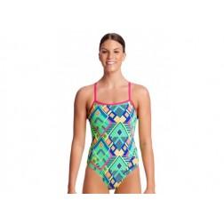 Funkita strój kąpielowy damski Diamond Fire Single Strap